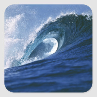 Fiji Islands, Tavarua, Cloudbreak. A wave Square Sticker