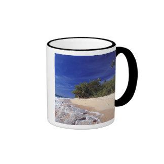 Fiji Islands, Tavarua. This beach on Tavarua, Ringer Coffee Mug