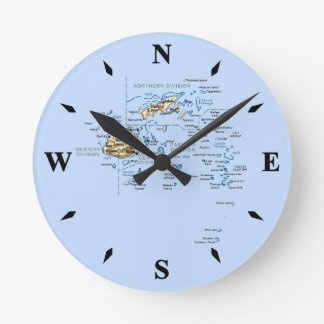 Fiji Map Clock