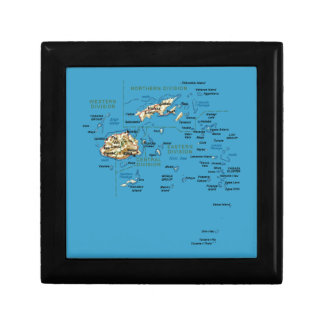 Fiji Map Gift Box