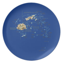 Fiji Map Plate