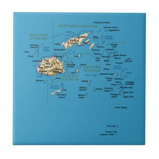 Fiji Map Tile