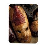 Fiji, máscaras de Viti Levu en un mercado de la ci Imán De Vinilo