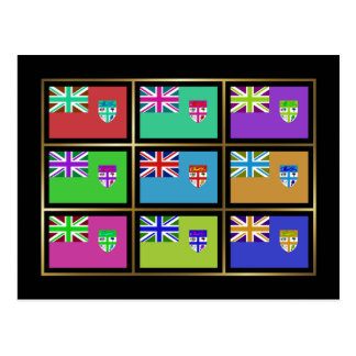 Fiji Multihue Flags Postcard