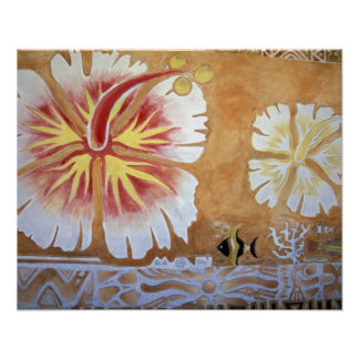 Fiji, mural Art. Póster