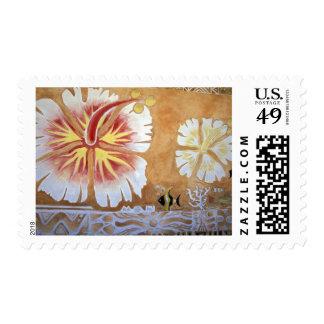 Fiji, mural art. stamp