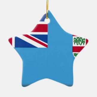 Fiji Double-Sided Star Ceramic Christmas Ornament
