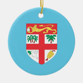 Fiji Double-Sided Ceramic Round Christmas Ornament
