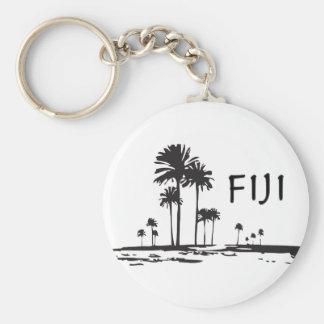 Fiji - palmeras gráficas llavero
