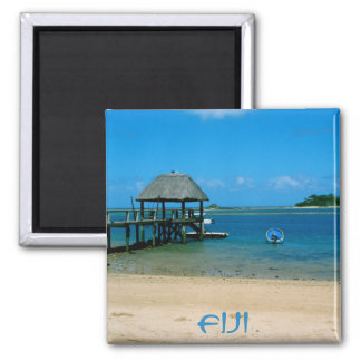 Fiji - Paradise Found on Malolo Island 2 Inch Square Magnet