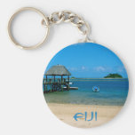 Fiji - paraíso encontrado en la isla de Malolo Llavero Redondo Tipo Pin