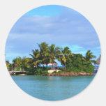 Fiji Pegatina Redonda