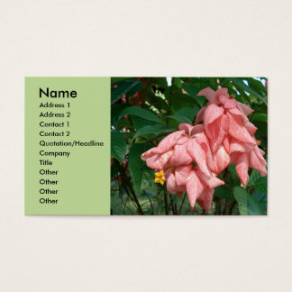 Fiji Pink and Yellow Flower Style Business Card