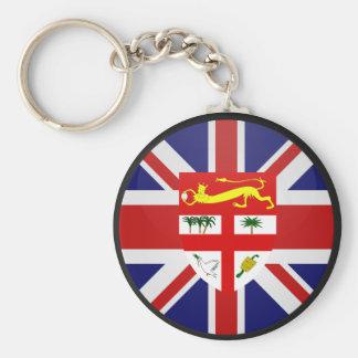 Fiji quality Flag Circle Basic Round Button Keychain