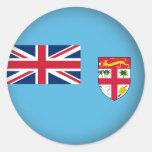 Fiji redonda pegatina redonda