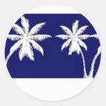Fiji Round Stickers
