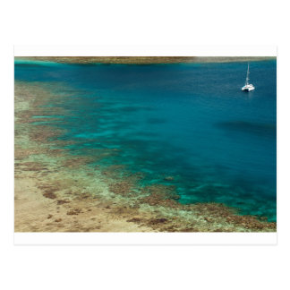 fiji sailing catamaran postcard