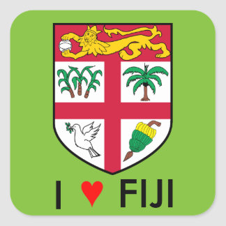 Fiji Square Sticker
