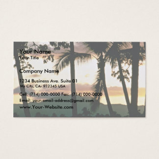 FiJi Sunset Business Card