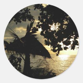 Fiji Sunset Classic Round Sticker