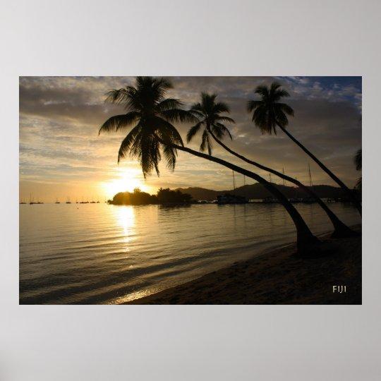 Fiji Sunset Poster