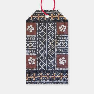 Fiji Tapa Cloth Print Gift Tag