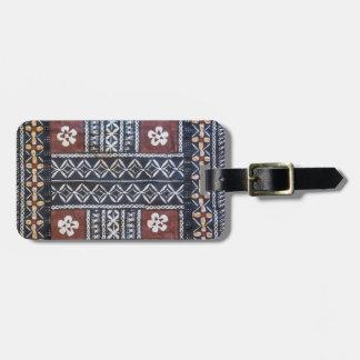 Fiji Tapa Cloth Print Luggage Tag