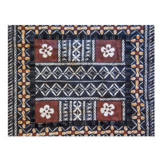 Fiji Tapa Cloth Print Postcard