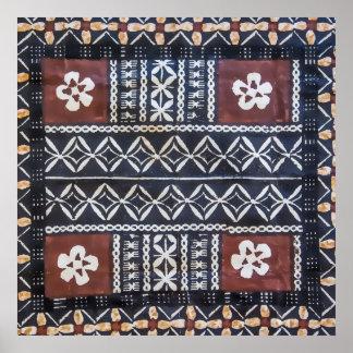Fiji Tapa Cloth Print Poster