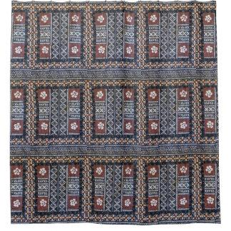 Fiji Tapa Cloth Print Shower Curtain
