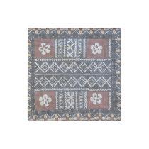 Fiji Tapa Cloth Print Stone Magnet