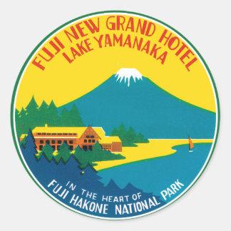 Fiji Travel Poster Classic Round Sticker