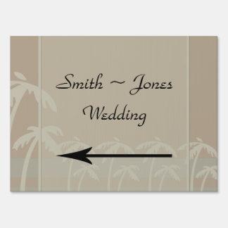 Fiji: Tropical Palm Trees Wedding Direction Sign