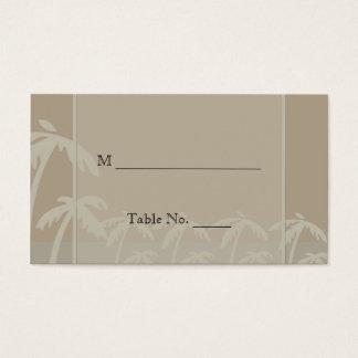 Fiji: Tropical Palm Trees Wedding Place Cards