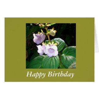 Fiji Tropical Purple Orchid Birthday Card
