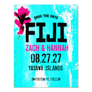 FIJI TWO Save the Date 4.25x5.5 Paper Invitation Card