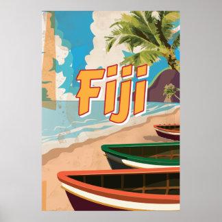 Fiji Vintage travel poster