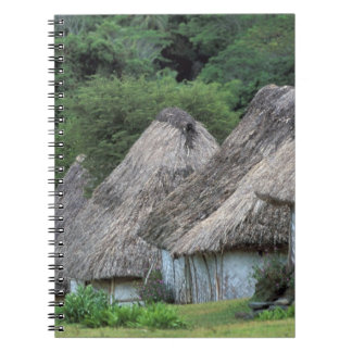 Fiji, Viti, casas tradicionales de la choza Notebook