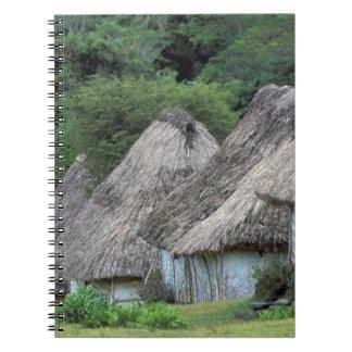 Fiji, Viti, casas tradicionales de la choza Libros De Apuntes