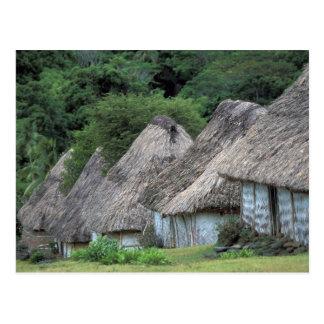 Fiji, Viti, casas tradicionales de la choza Tarjetas Postales