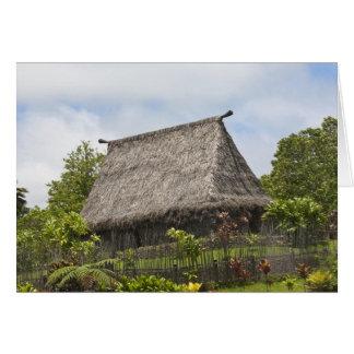 Fiji, Viti Levu Island. Polynesian Cultural Card