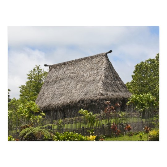 Fiji, Viti Levu Island. Polynesian Cultural Postcard