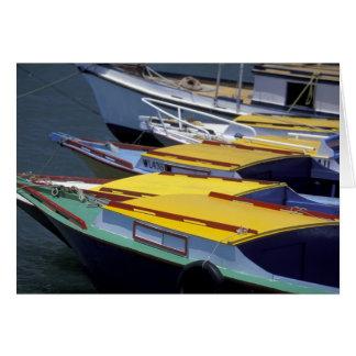 Fiji, Viti Levu, Lautoka, Small boats in Port of Card