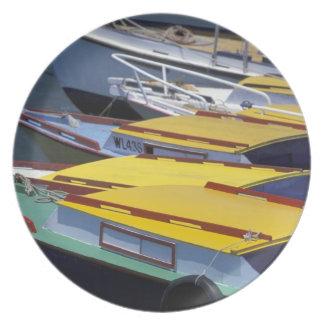 Fiji, Viti Levu, Lautoka, Small boats in Port of Plates