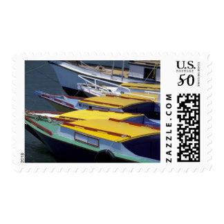 Fiji, Viti Levu, Lautoka, Small boats in Port of Postage