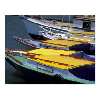 Fiji, Viti Levu, Lautoka, Small boats in Port of Postcard
