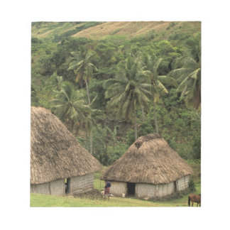 Fiji, Viti Levu, Navala, casas tradicionales de Bu Bloc De Notas