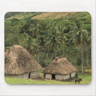 Fiji, Viti Levu, Navala, casas tradicionales de Bu Tapete De Raton