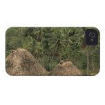 Fiji, Viti Levu, Navala, casas tradicionales de iPhone 4 Case-Mate Cárcasa