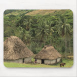 Fiji, Viti Levu, Navala, Traditional Bure houses Mouse Pad